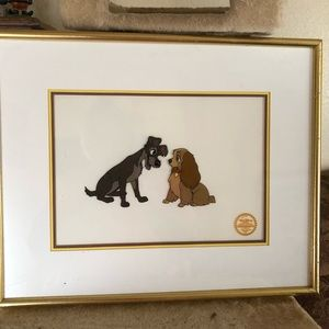 Disney Lady and The Tramp Serigraph